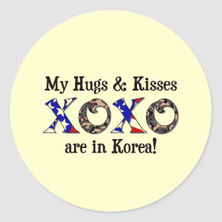 My hugs & Kisses are in Korea Sticker