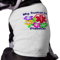 My Human Has Diabetes Floral Shirt