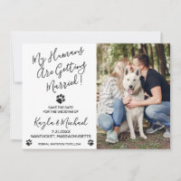 My Humans Are Getting Married- Elegant Dog Wedding Save The Date
