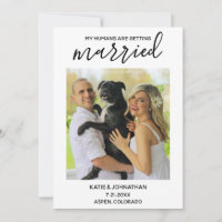 My Humans Are Getting Married - Simple Dog Wedding Save The Date