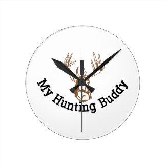 My Hunting Buddy Round Clock