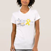 My Husband An Angel - Bladder Cancer T-Shirt