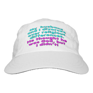 My husband and I divorced over religious... Headsweats Hat