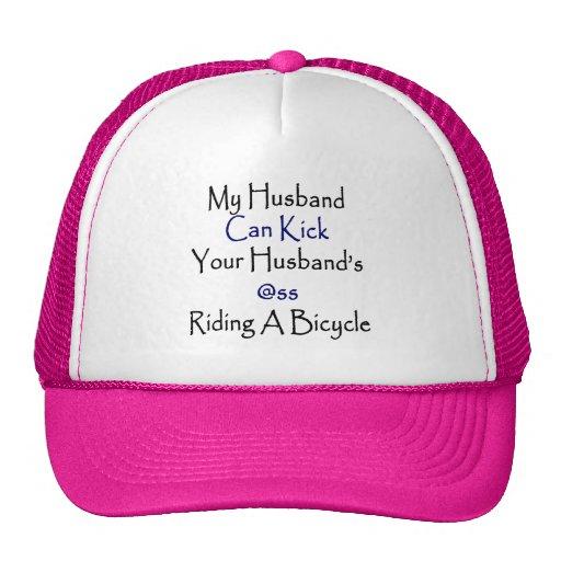 My Husband Can Kick Your Husband's Ass Riding A Bi Trucker Hat