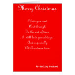 My husband Christmas greeting cards