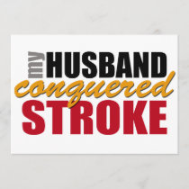 My Husband Conquered Stroke Card