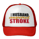 My Husband Conquered Stroke Mesh Hat