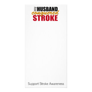 My Husband Conquered Stroke Photo Card