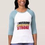 My Husband Conquered Stroke Tee Shirt