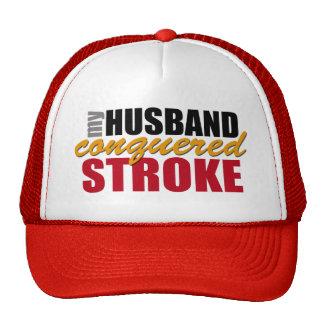 My Husband Conquered Stroke Trucker Hat