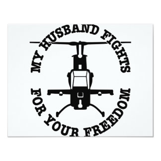 My Husband Fights For Your Freedom Helo Card