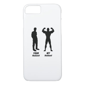 My Husband Funny Gift Bodybuilder Gym iPhone 8/7 Case