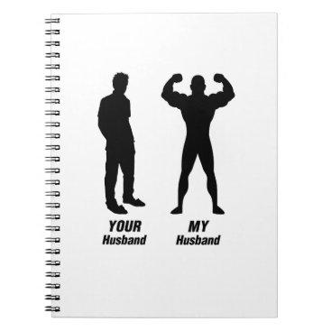 de_look My Husband Funny Gift Bodybuilder Gym Notebook