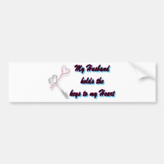 My Husband holds the key to my heart Bumper Sticker
