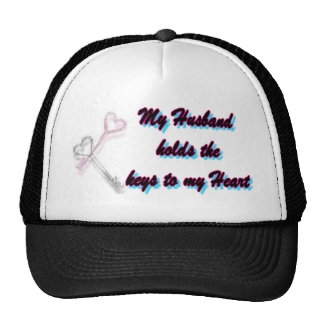 My Husband holds the key to my heart Trucker Hat