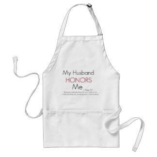 My Husband Honors Me/ 1 Peter 3:7 Adult Apron