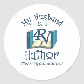 My Husband is a 4RV Author Classic Round Sticker