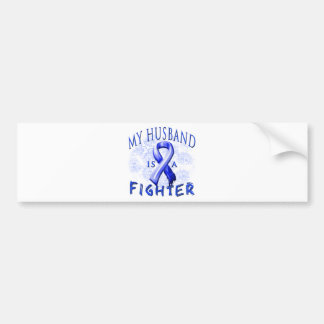 My Husband Is A Fighter Blue Bumper Sticker