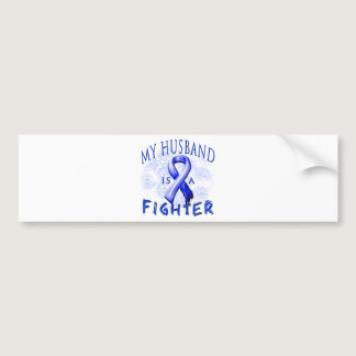 My Husband Is A Fighter Blue Bumper Sticker