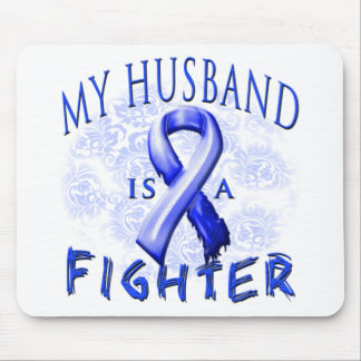 My Husband Is A Fighter Blue Mouse Pad