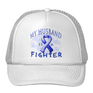 My Husband Is A Fighter Blue Trucker Hat