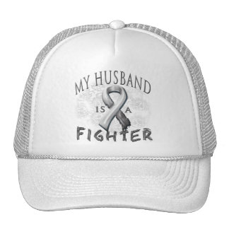 My Husband Is A Fighter Grey Trucker Hat