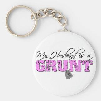My Husband is a Grunt 0341 Keychain