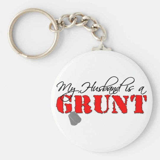 My Husband is a Grunt Keychain