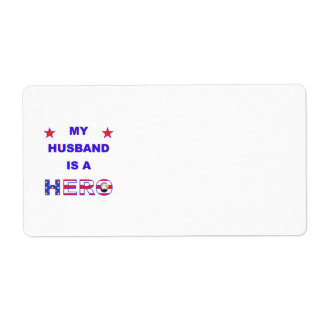My Husband Is A Hero Label
