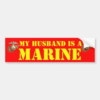 MY HUSBAND IS A MARINE CAR BUMPER STICKER