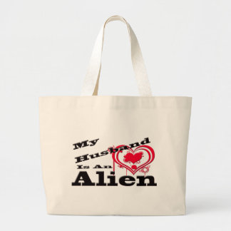 My Husband Is An Alien Canvas Bags