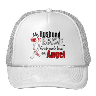 My Husband Is An Angel Lung Cancer Mesh Hat
