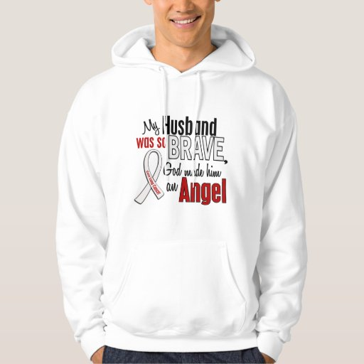 My Husband Is An Angel Lung Cancer Hooded Sweatshirts