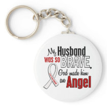 My Husband Is An Angel Lung Cancer Keychain