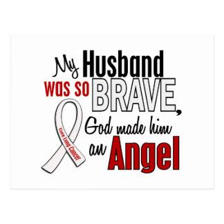My Husband Is An Angel Lung Cancer Postcard