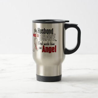 My Husband Is An Angel Lung Cancer Travel Mug