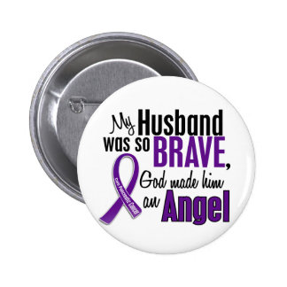 My Husband Is An Angel Pancreatic Cancer Pin