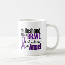 My Husband Is An Angel Pancreatic Cancer Coffee Mug