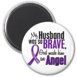 My Husband Is An Angel Pancreatic Cancer Fridge Magnet