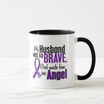 My Husband Is An Angel Pancreatic Cancer Mug