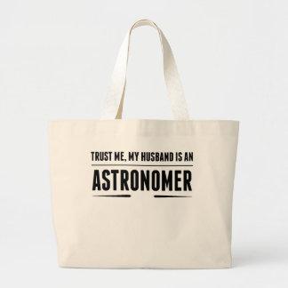 My Husband Is An Astronomer Jumbo Tote Bag