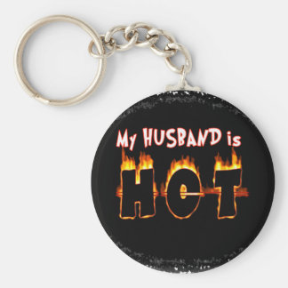 MY HUSBAND IS FLAMING HOT! KEYCHAIN