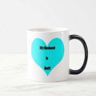 My Husband is hot4 Magic Mug