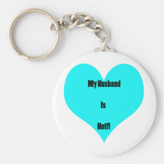 My Husband Is Hot! Basic Round Button Keychain