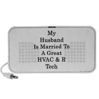 My Husband Is Married To A Great HVAC R Tech Notebook Speakers