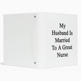 My Husband Is Married To A Great Nurse Vinyl Binders