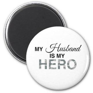 My Husband is my Hero Digital Camouflage Magnet