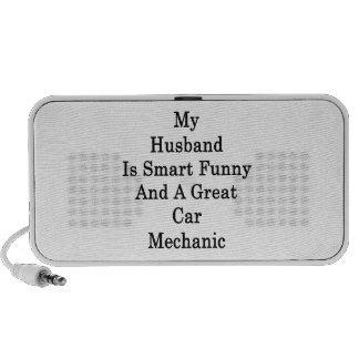 My Husband Is Smart Funny And A Great Car Mechanic iPhone Speaker