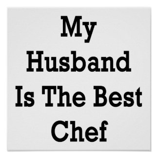 My Husband Is The Best Chef Poster