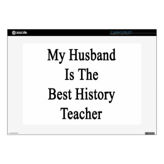 My Husband Is The Best History Teacher Laptop Decals